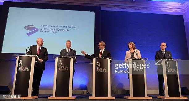 Martin McGuinness, the deputy First Minister of Northern Ireland, Peter Robinson, the First Minister of Northern Ireland, Enda Kenny, the Taoiseach ,...