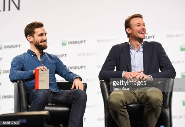 Martin Mignot and Jan Hammer of Index Ventures speak at TechCrunch Disrupt Berlin 2017 at Arena Berlin on December 4, 2017 in Berlin, Germany.