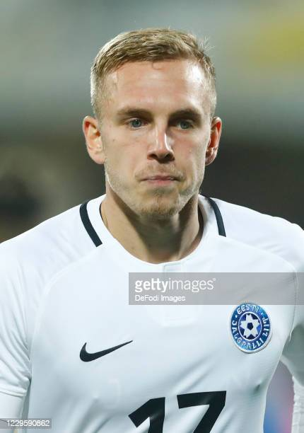 Martin Miller of Estonia looks on during the International Friendly match between Italy and Estonia at Stadio Artemio Franchi on November 11, 2020 in...