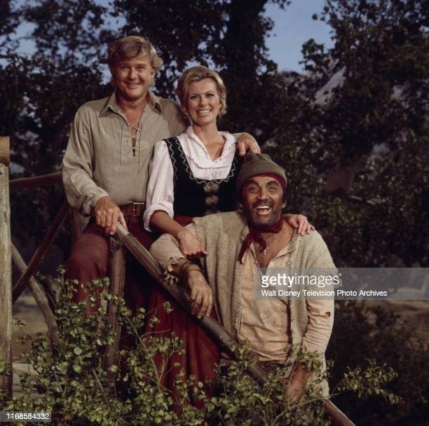 Martin Milner Pat Delany Cameron Mitchell promotional photo for the ABC tv series 'Swiss Family Robinson'