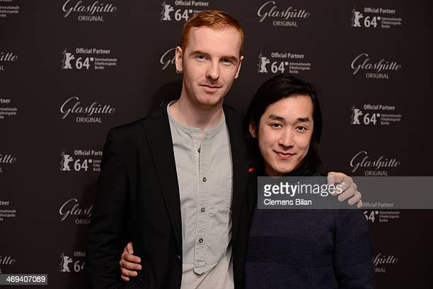 Martin Monk and Hien Le attend the Kinemathek Reception At Glashuette Original Lounge on February 14 2014 in Berlin Germany