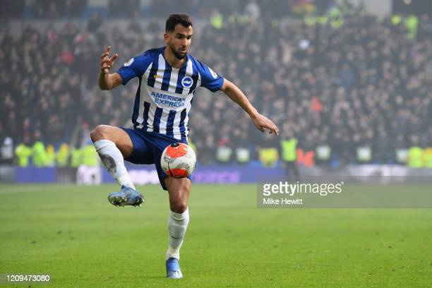 Martin Montoya of Brighton Hove Albion in action during the Premier League match between Brighton Hove Albion and Crystal Palace at American Express...