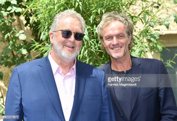 Martin Moszkowicz and Christoph Mueller attend the FFF reception during the Munich Film Festival 2018 at Praterinsel on July 5 2018 in Munich Germany