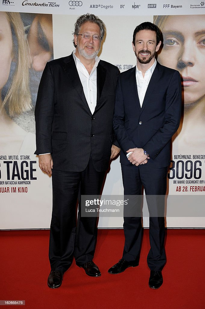 Martin Moszkowicz and Oliver Berben attend the '3096 Tage' World Premiere at Cineplexx Wienerberg on February 25, 2013 in Vienna, Austria.