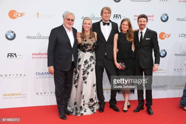 Martin Moszkowicz Nina Eichinger and her partner Fritz Meinikat Oliver Berben his wife Katrin Berben during the Lola German Film Award red carpet...