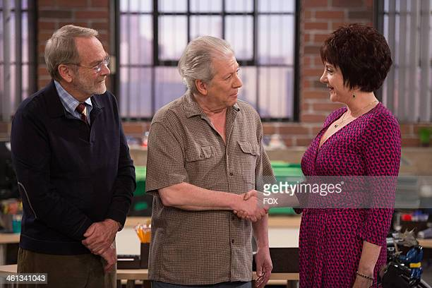 Martin Mull Peter Riegert and Lee Garlington in the My Dad's Hotter Than Your Dad episode of DADS airing Tuesday Oct 22 2013 on FOX