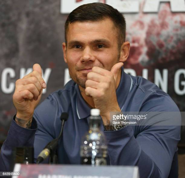 Martin Murray during a press conference at the Hilton Hotel on February 27 2017 in Liverpool England