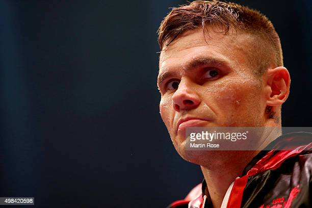Martin Murray of Great Britain looks on before the WBO World Championship Super Middleweight title fight at TUI Arena on November 21 2015 in Hanover...
