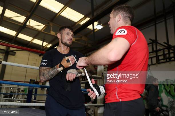 Martin Murray works out during a media work out session at VIP Boxing Gym on February 20 2018 in Manchester England