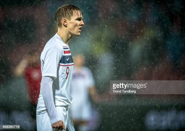 Martin Odegaard of Norway during International friendly match between Albania and Norway on March 26 2018 at Elbasan Arena in Elbasan Albania