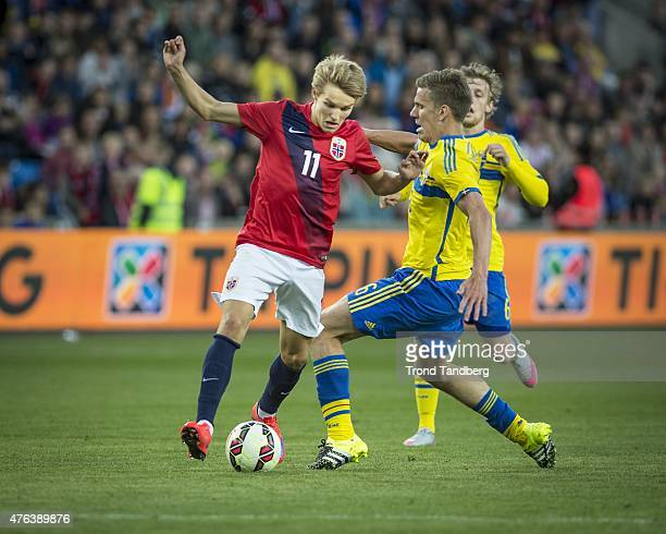 Martin Odegaard of Norway during the International Friendly match between Norway and Sweden at Ullevaal Stadion on June 8 2015 in Oslo Norway