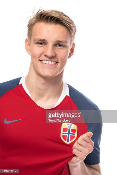 Martin Odegaard of Norway during the Men's National Team Men NFF Photocall on March 20 2018 in Oslo Norway