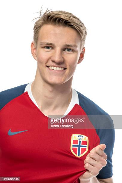 Martin Odegaard of Norway during the Men's National team NFF Photocall on March 20 2018 in Oslo Norway