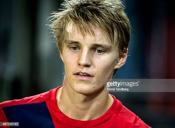 Martin Odegaard of Norway during the U21 International match between Norway and England at Marienlyst Stadium on September 7 2015 in Drammen Norway