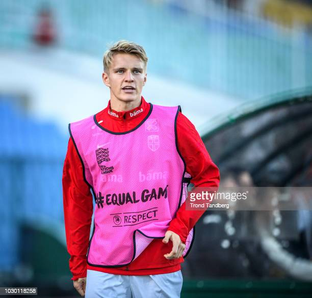 Martin Odegaard of Norway during the UEFA Nations League C group three match between Bulgaria and Norway at Vasil Levski National Stadium on...
