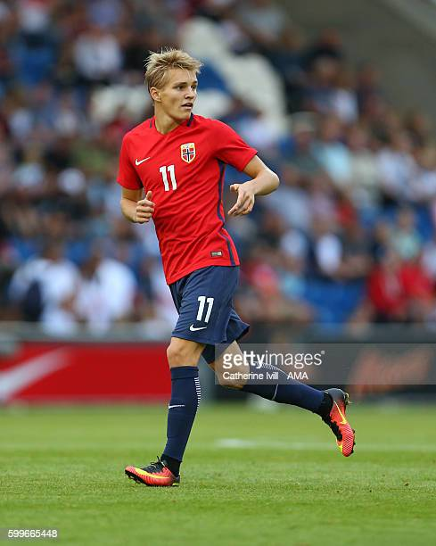Martin Odegaard of Norway U21 during the UEFA European U21 Championship Qualifier Group 9 match between England U21 and Norway U21 at Colchester...
