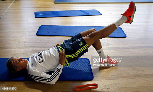 Martin Odegaard of Real Madrid exercising inside the gym during a training session at AAMI PARK training ground on July 14 2015 in Melbourne Australia