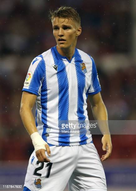 Martin Odegaard of Real Socieadad during the PreSeason Friendly between Nottingham Forest and Real Sociedad at City Ground on July 26 2019 in...