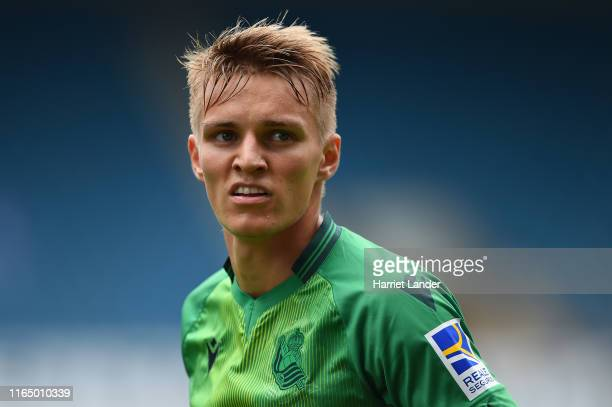 Martin Odegaard of Real Sociedad looks on during the PreSeason Friendly between Millwall and Real Sociedad at The Den on July 27 2019 in London...