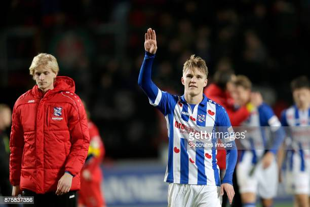 Martin Odegaard of SC Heerenveen celebrate the victory during the Dutch Eredivisie match between Fc Twente v SC Heerenveen at the De Grolsch Veste on...