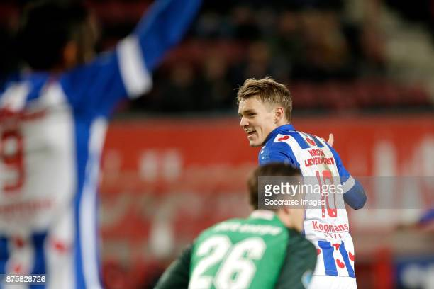 Martin Odegaard of SC Heerenveen celebrates 0-3 during the Dutch Eredivisie match between Fc Twente v SC Heerenveen at the De Grolsch Veste on...