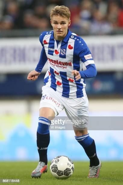 Martin Odegaard of sc Heerenveen during the Dutch Eredivisie match between sc Heerenveen and AZ Alkmaar at Abe Lenstra Stadium on October 29 2017 in...