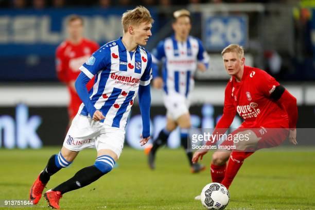 Martin Odegaard of SC Heerenveen during the Dutch Eredivisie match between SC Heerenveen v Fc Twente at the Abe Lenstra Stadium on February 3 2018 in...
