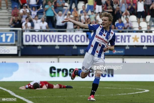 Martin Odegaard of SC Heerenveen during the Dutch Eredivisie playoffs match between sc Heerenveen and FC Utrecht at Abe Lenstra Stadium on May 17...