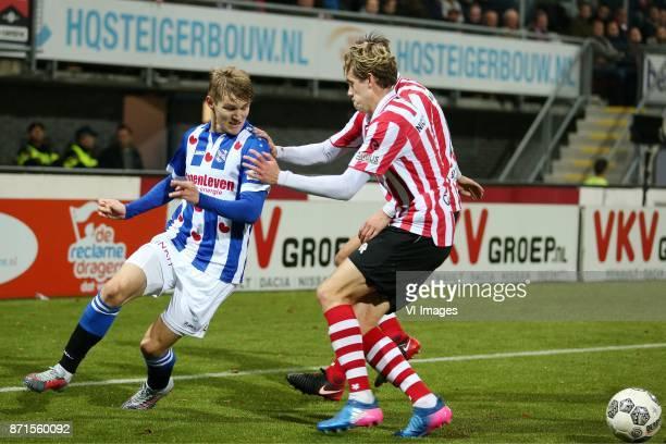 Martin Odegaard of sc Heerenveen Nicholas Marfelt of Sparta Rotterdam during the Dutch Eredivisie match between Sparta Rotterdam and sc Heerenveen at...