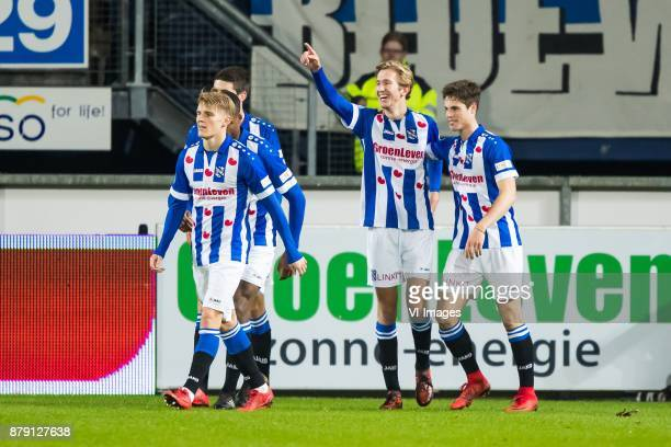 Martin Odegaard of sc Heerenveen Pelle van Amersfoort of sc Heerenveen Michel Vlap of sc Heerenveen Kik Pierie of sc Heerenveen during the Dutch...