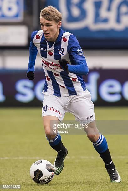 Martin Odegaard of SC Heerenveenduring the Dutch Eredivisie match between sc Heerenveen and FC Groningen at Abe Lenstra Stadium on January 29 2017 in...
