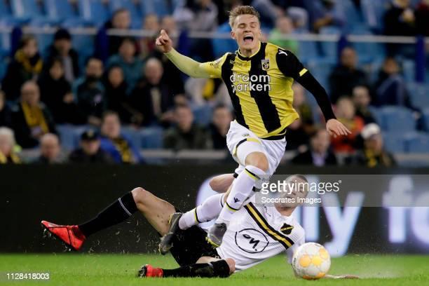 Martin Odegaard of Vitesse Arno Verschueren of NAC Breda during the Dutch Eredivisie match between Vitesse v NAC Breda at the GelreDome on March 2...