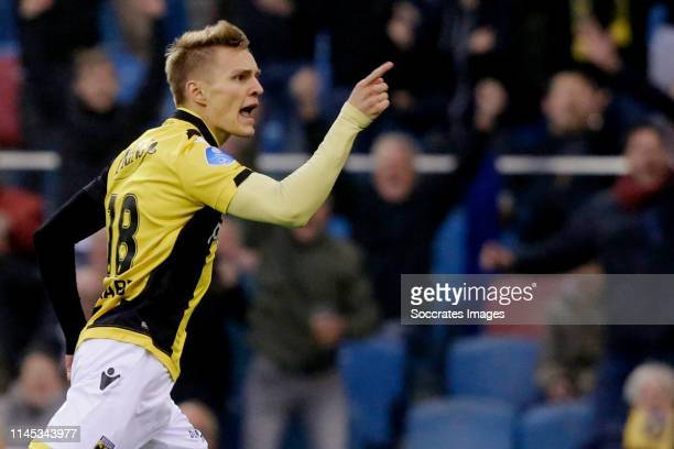 Martin Odegaard of Vitesse celebrates 10 during the Dutch Eredivisie match between Vitesse v FC Groningen at the GelreDome on May 21 2019 in Arnhem...