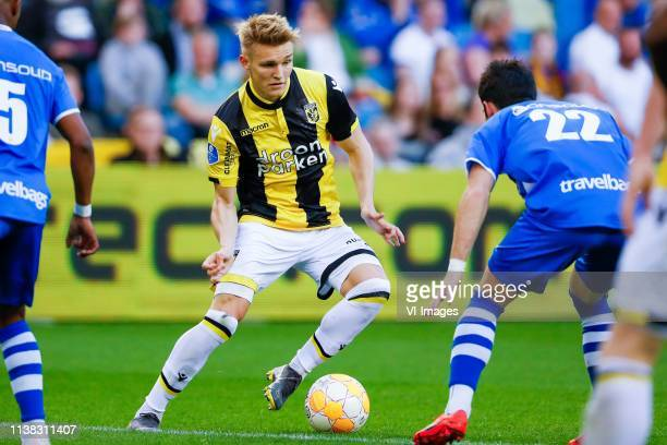 Martin Odegaard of Vitesse Pelle Clement of PEC Zwolle during the Dutch Eredivisie match between Vitesse Arnhem and PEC Zwolle at Gelredome on April...