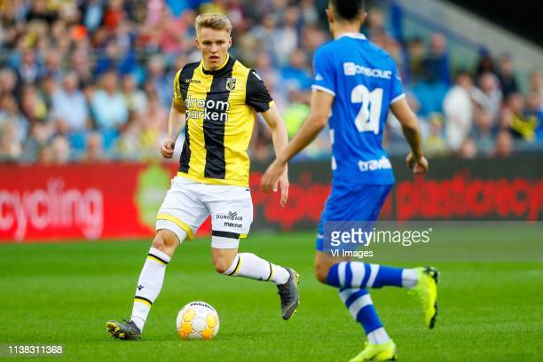 Martin Odegaard of Vitesse Younes Namli of PEC Zwolle during the Dutch Eredivisie match between Vitesse Arnhem and PEC Zwolle at Gelredome on April...