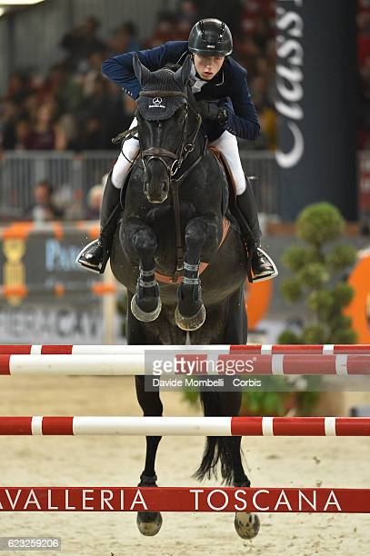 Martin of Switzerland rides Pacific Des Essarts during the FEI Longines CSI5* World Cup Small Tour By BMW Jumping Verona 2016 on November 10 2016 in...