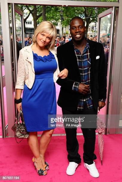 Martin Offiah and guest arriving for the UK Premiere of Killers at the Odeon West End Leicester Square London