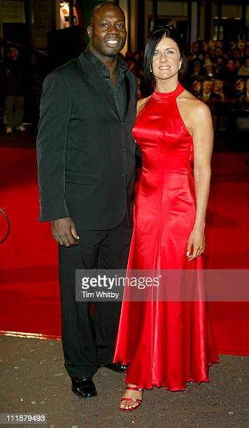 Martin Offiah and guest during Shall We Dance London Premiere Arrivals at Odeon West End in London Great Britain