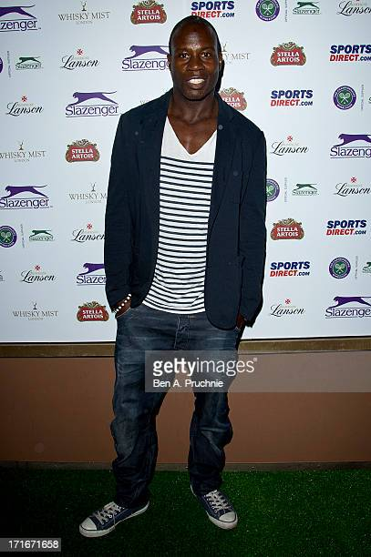 Martin Offiah attends party hosted by Slazenger during the Wimbledon tennis championships at Whisky Mist on June 27 2013 in London England