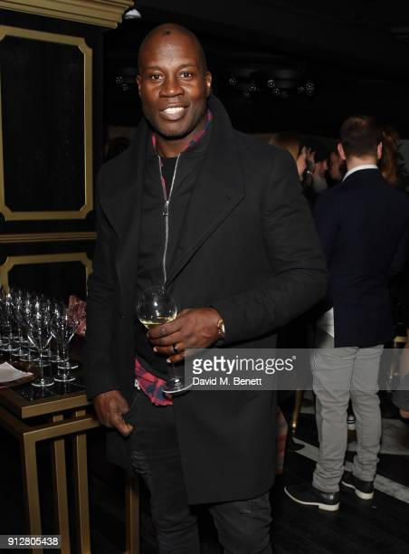 Martin Offiah attends the Carbon Champagne UK launch party at Kadie's Cocktail Bar Club on January 31 2018 in London England