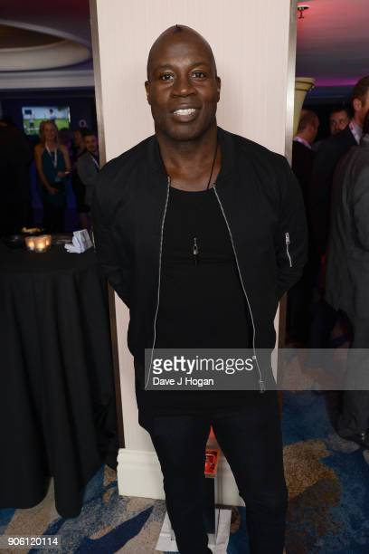Martin Offiah attends The Nordoff Robbins Six Nations Championship Rugby dinner held at Grosvenor House on January 17 2018 in London England