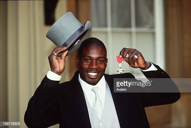 Martin Offiah Mbe London Bronco's and England International Rugby Player Pictured outside Buckingham Palace after receiving his MBE