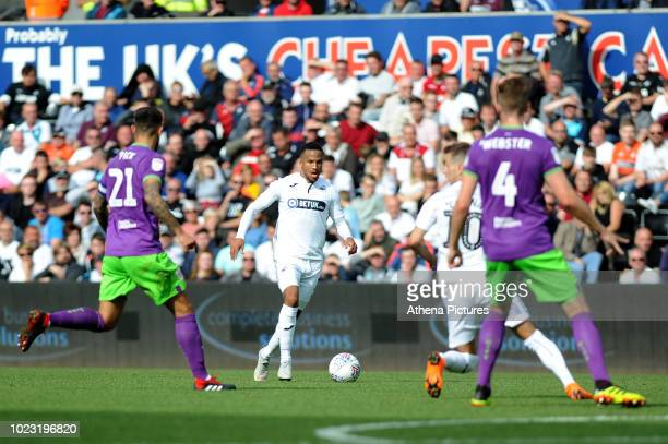 Martin Olsson of Swansea City during the Sky Bet Championship match between Swansea City and Bristol City at the Liberty Stadium on August 25 2018 in...