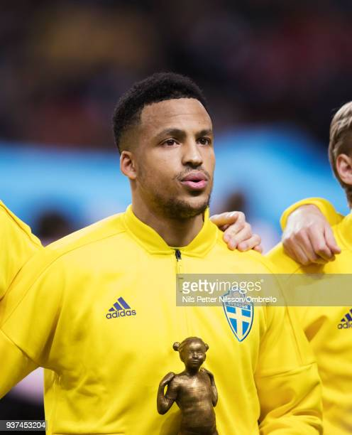 Martin Olsson of Sweden ahead of the International Friendly match between Sweden and Chile at Friends arena on March 24 2018 in Solna Sweden