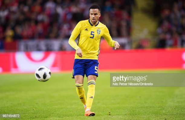 Martin Olsson of Sweden during the International Friendly match between Sweden and Chile at Friends arena on March 24 2018 in Solna Sweden