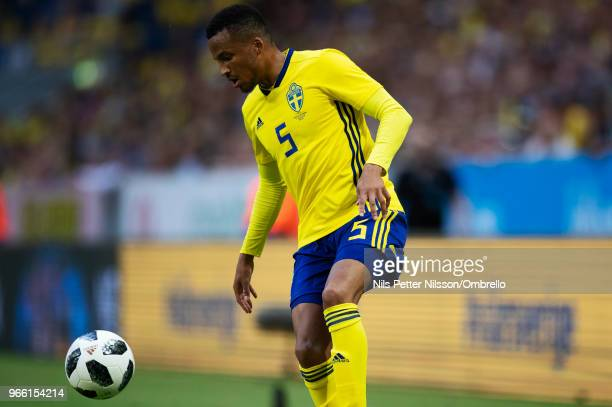 Martin Olsson of Sweden during the International Friendly match between Sweden and Denmark at Friends Arena on June 2 2018 in Solna Sweden