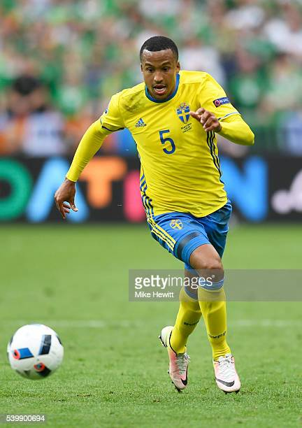 Martin Olsson of Sweden in action during the UEFA EURO 2016 Group E match between Republic of Ireland and Sweden at Stade de France on June 13 2016...
