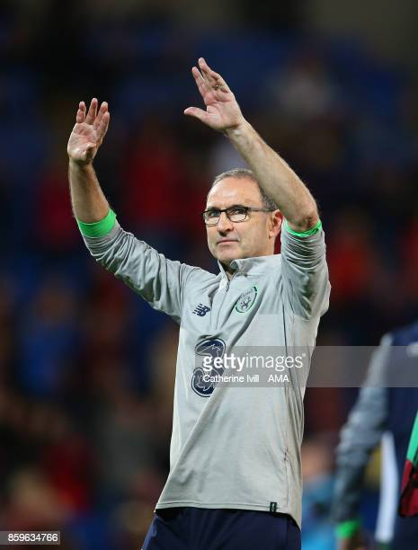 Martin O'Neill manager of Republic of Ireland during the FIFA 2018 World Cup Qualifier between Wales and Republic of Ireland at Cardiff City Stadium...