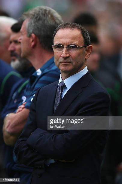 Martin O'Neill manager of Republic of Ireland looks on during the UEFA EURO 2016 Qualifier Group D match between Republic of Ireland and Scotland at...