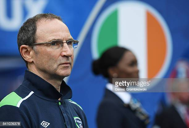 Martin O'Neill manager of Republic of Ireland looks on during the UEFA EURO 2016 Group E match between Belgium and Republic of Ireland at Stade...